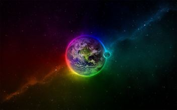 Colorful-Space-and-Earth