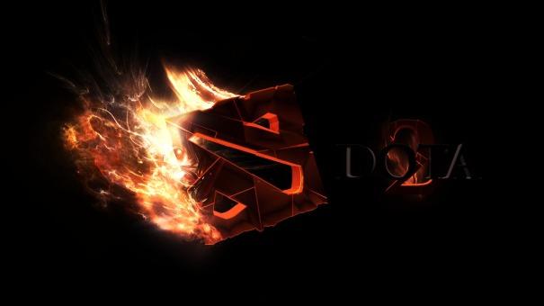 Dota-2-Awesome-Fire-Logo-HD-Wallpaper