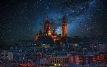 Paris-Montmartre-by-Night-Destkop-wallpaper