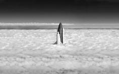 Spaceshuttle-Trough-Clouds