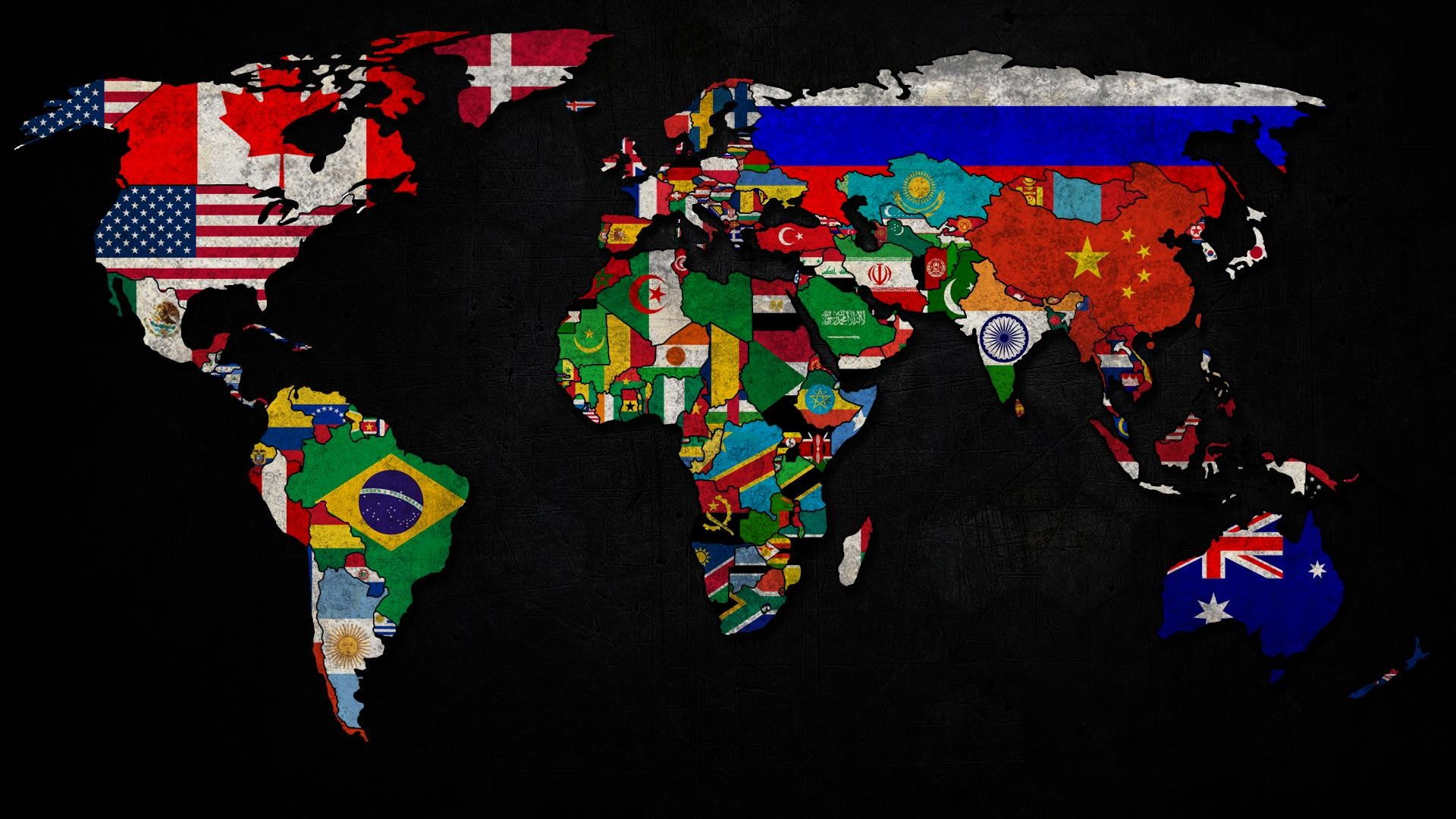 World map of country flags kamakawida world map of country flags gumiabroncs Images