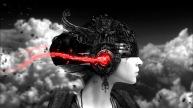 Black-and-White-Girl-Cyberpunk-Helmet
