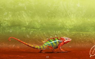 colorful-chameleon-digital-artwork