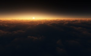 Sunset-Over-Clouds