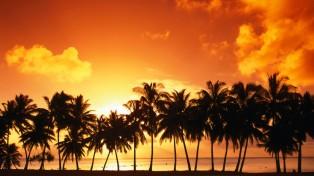 Cook-Islands-Sunset-HD-Wallpaper