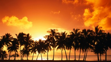 Cook-Islands-Sunset-HD-Wallpaper