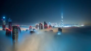 Dubai-by-Night-in-Covered-in-Fog