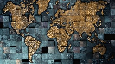 Golden-Earth-Map-Wallpaper