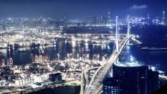 Hong-Kong-Bay-Area-by-Night-Wallpaper