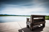 Minimalistic-Bench-on-Water-HD-Wallpaper
