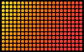 Yellow-To-Red-Pattern