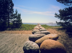 Stones In a Row By the Sea