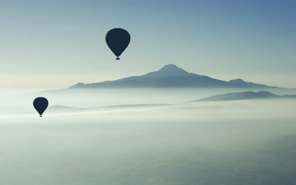 Hot-Air-Balloons-Over-Mountains-hd-wallpaper