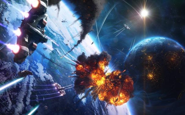 Sci-fi-Space-Battle-wallpaper