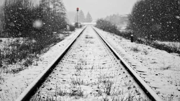 Snow-Covered-Railroad