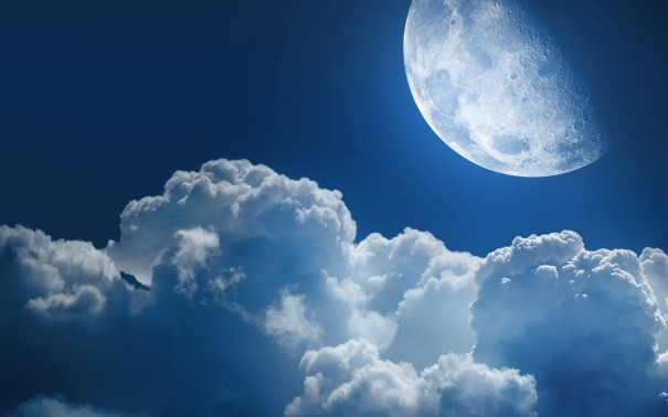 White-Clouds-and-Moon-wallpaper