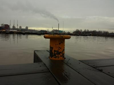 City on a pole