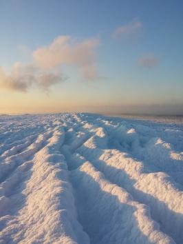 Sea ice ridge