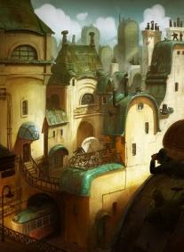 Housing illustration beautiful city