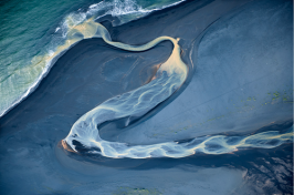 ocean river sand