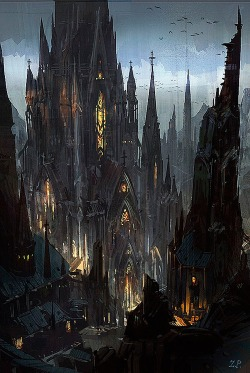 dark castle ilustration
