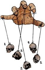 drawing, - cartoon - skulls - fingers