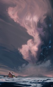 calm drawing storm clouds