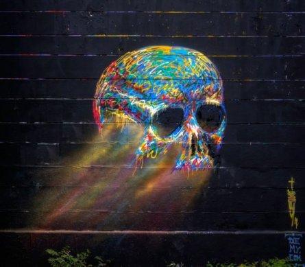 street-art-beautiful-skull