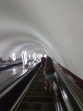 Second deepest Metro station in the World. over 100m